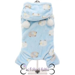 Urban Pup Pigiamino Sheep Onesie Blue