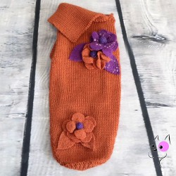 Maglia Fiori Arancione