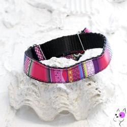 Collare in Nylon Greyhound Multicolor 30/40cm H4cm