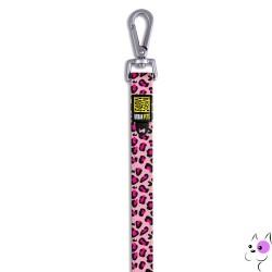 Max&Molly Guinzaglio in Nylon Leopard Pink