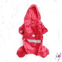 Impermeabile 4 Zampe Rosso