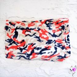 Coperta Camouflage Rosso e Blu