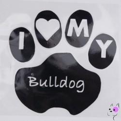 Adesivo I Love My Bulldog