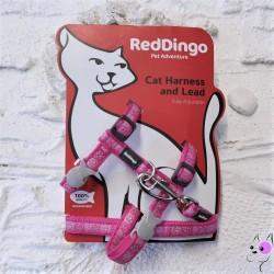 Red Dingo Parure Gatto Zampette Fucsia