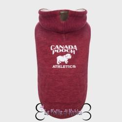 Canada Pooch Cozy Caribou Hoodie Marled Maroon